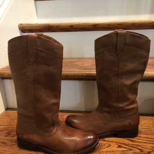 Frye women's boots sz 6.5 brown leather